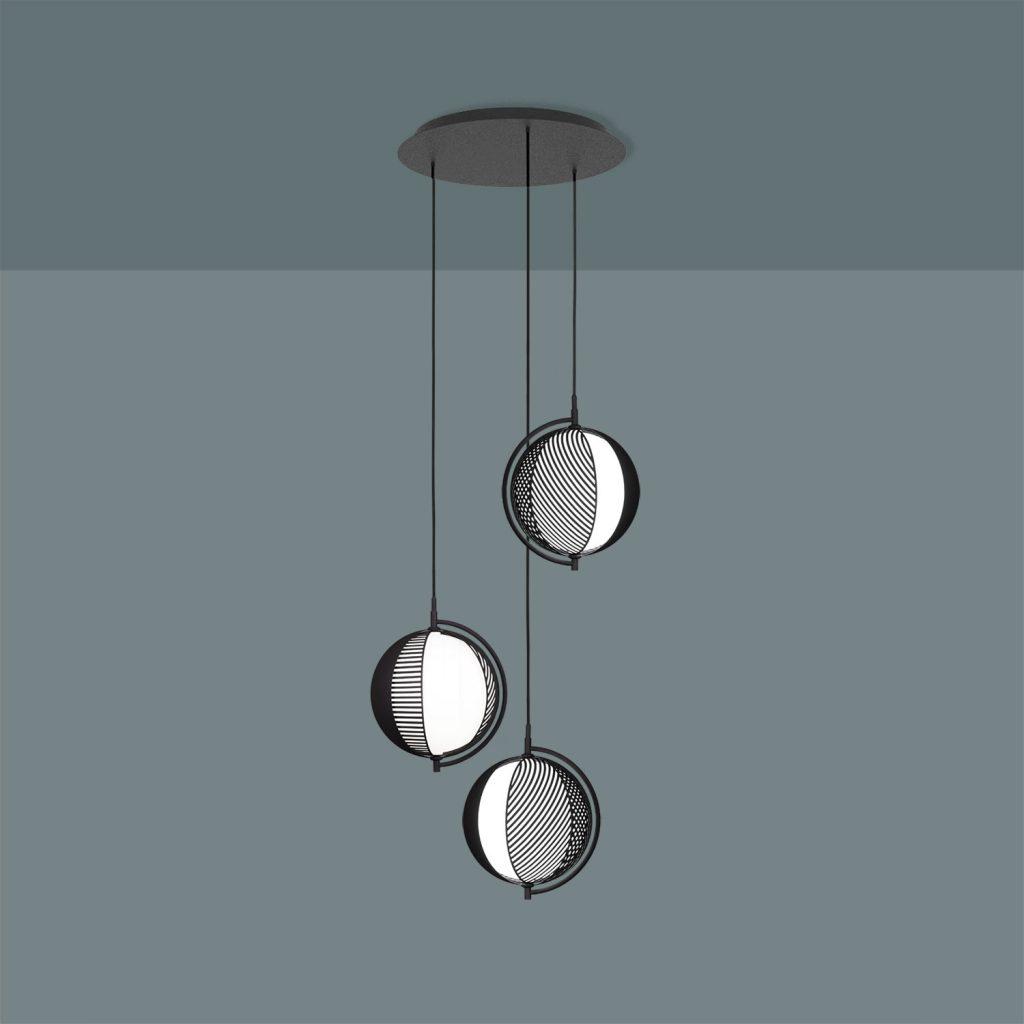 Mondo (Triplette) pendant by Italian designer Antonio Facco for Oblure