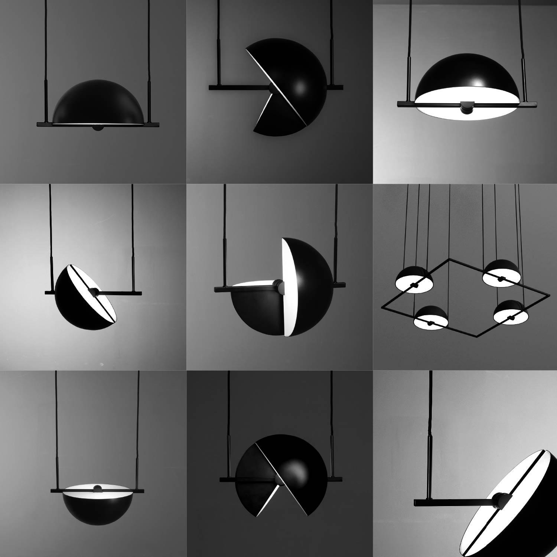 Trapeze pendant lamp by Jette Scheib for Oblure