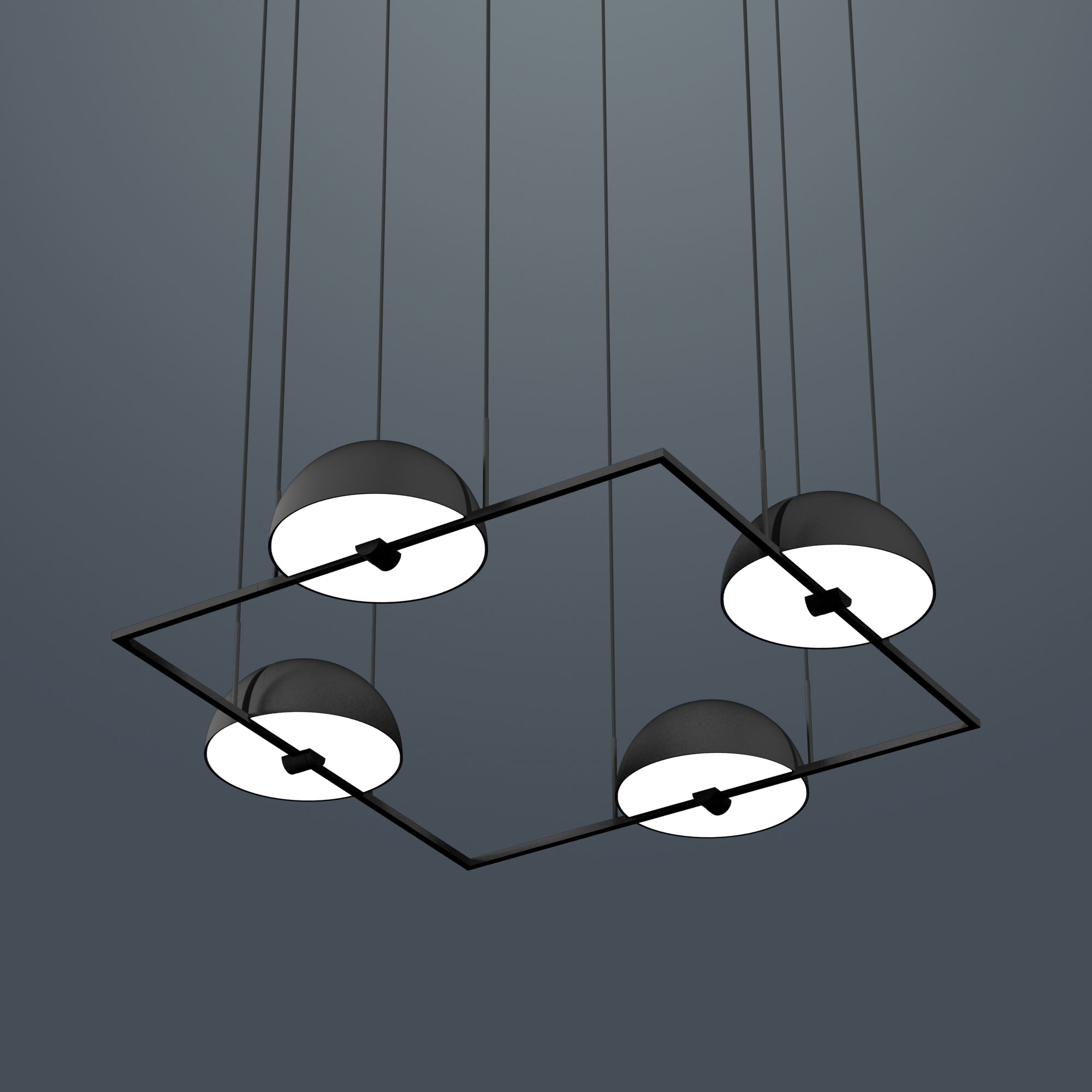 Trapeze (Quartette) pendant lamp by Jette Scheib for Oblure