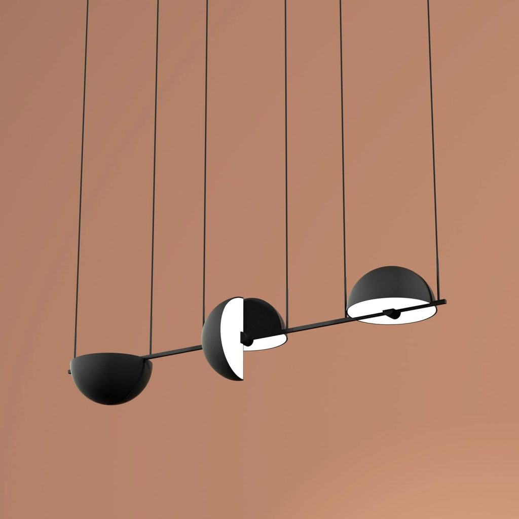 Trapeze (Triplette) pendant lamp by Jette Scheib for Oblure