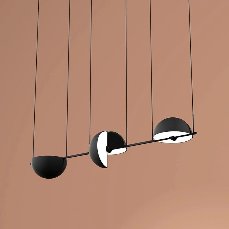 Trapeze (Triplette) pendant lamp by Jette Scheib for Oblure