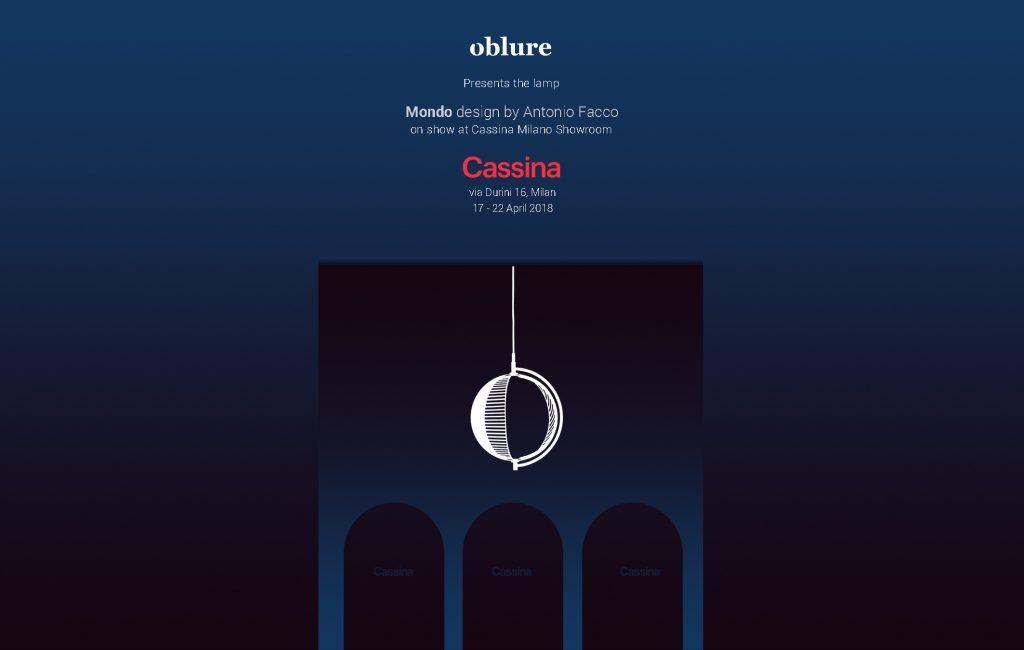 Mondo by Antonio Facco for Oblure at Cassina Showroom