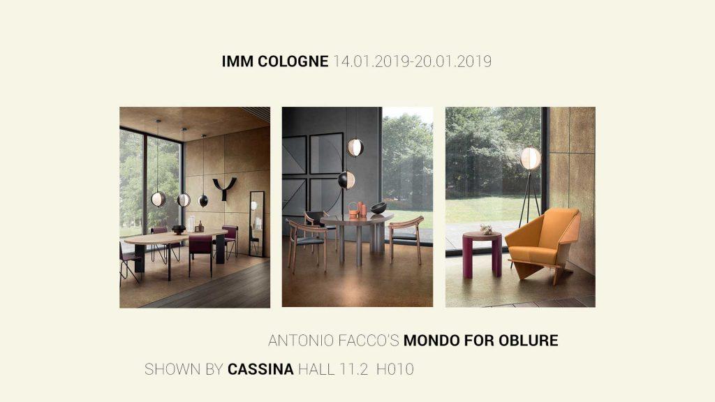 Mondo by Antonio Facco att Cassina's stand att Imm Cologne 2019